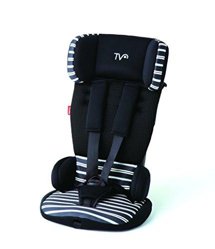 日本育児 トラベルベストECプラス ブラックボーダー 幅34x高さ54~59×奥行30cm対象 6100005001 体重:9kg~18kg (1歳頃~4歳頃対象) コンパクトで持ち運びやすいチャイルドシート
