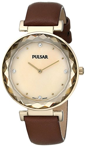 Pulsar Two-Hand Leather - Brown Women's watch #PM2082