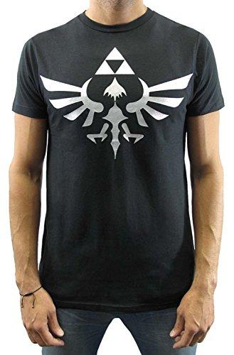 Nintendo Legend of Zelda Skyward Sword Silver Triforce Logo T-shirt - XXX-Large