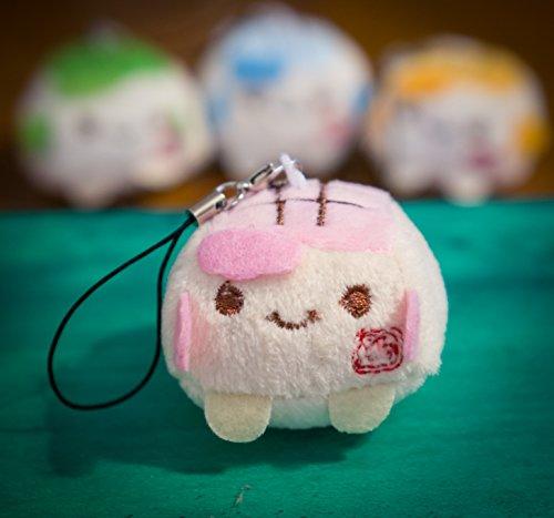 Bambola giocattolo con stivali e gonna lana pompon Ciondolo portachiavi portachiavi chiave catena morbido cotone lavorato a maglia maglione Gem Diamond D letame d-dung Sweet Unusual Innocenti Hipster, Tofu - Pink, 4 cm