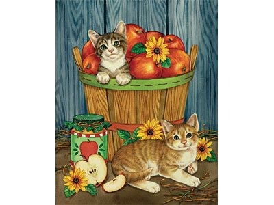 Great American Puzzle Factory Apple Basket Babies 300 Piece Puzzle
