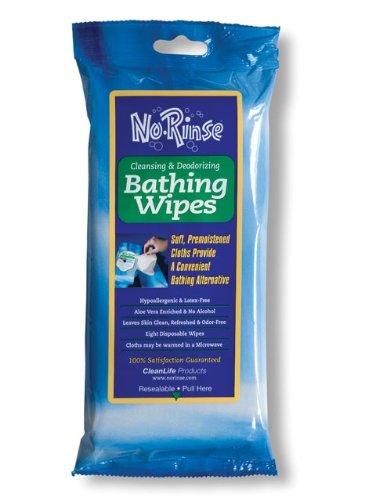 Imagen de No Rinse limpieza y desodorización toallitas de baño - 8 ea