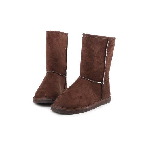 Reneeze ROSE-4 Women Mid-Calf Boot- Coffee