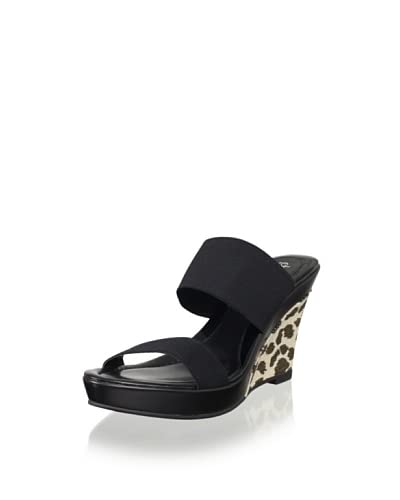 Charles by Charles David Women's Trace Elastic Wedge  - Black/Leopard
