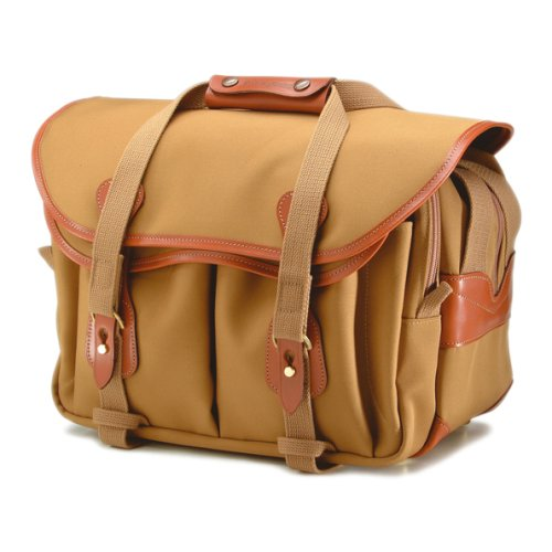 Billingham 335 Canvas Camera Bag With Tan Leather