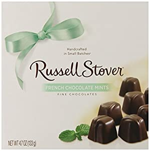 Russell Stover French Chocolate Mints, 4.7-Ounce Boxes (Pack of 5)