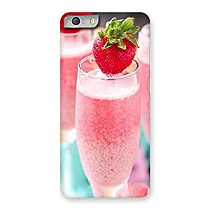 Delighted Strawberry Shake Back Case Cover for Micromax Canvas Knight 2