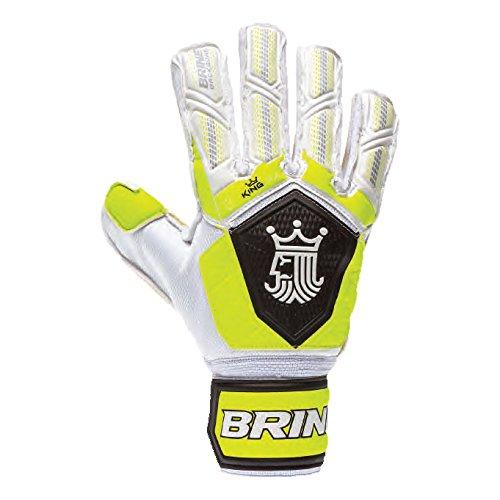 Goalkeeper Gloves Brine King Match 3X Soccer Goalie Glove Finger Protection Spines 3 mm German Latex