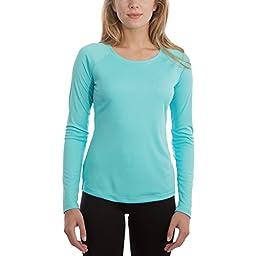 Vapor Apparel Women\'s UPF Long Sleeve Solar Performance T-Shirt Medium Water Blue