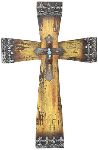 Young's Wood Large Wall Cross, 18.75-Inch
