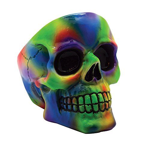 Tie Dye Skull Ashtray - 3.75