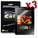 "Fintie Kindle Fire HD 7"" (2012 1st generation) Ultra Clear Screen Protector 3 Pack Individual Retail Package (2012 Release / Not Compatible with HDX models or All-New Kindle Fire HD 7 2013)"