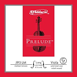 D&#8217;Addario Prelude Viola Single G String, Long Scale, Medium Tension