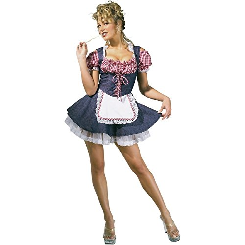 [GSG Farm Girl Costume Adult Sexy Country Farmers Daughter Halloween Fancy Dress] (Farmers Daughter Halloween Costume)