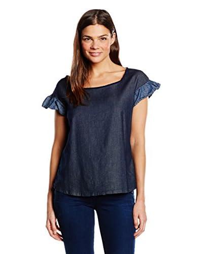 Fornarina T-Shirt Manica Corta Shelton Denim-Stretch