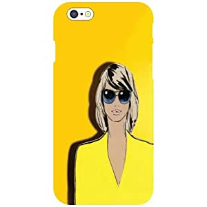 Apple iPhone 6 Back Cover - Yellow Colored Designer Cases
