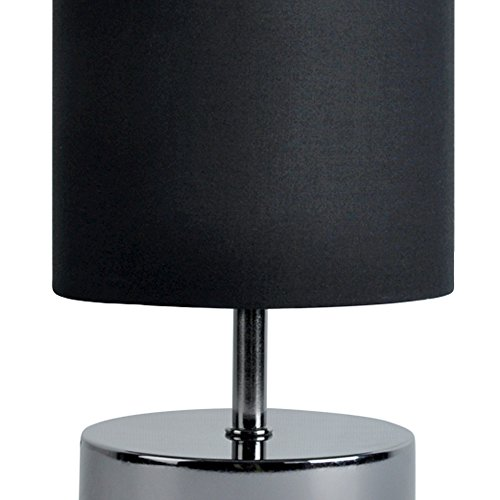 Pair of black chrome bedside touch table lamps - Black touch lamps bedside ...