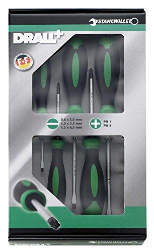 STAHLWILLE-QuickRelease-4688-einer-5-PCS-Professional-Phillips-Schlitz-Schraubendreher