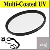 Big Mike'S 82Mm Multi-Coated Uv Protective Filter For Canon Xf300 Xf305 + Cap Keeper + Microfiber Cleaning Cloth