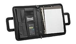 DALIX Professional Portfolio Padfolio Organizer File Divider with Calculator Notepad 3-Ring Binder