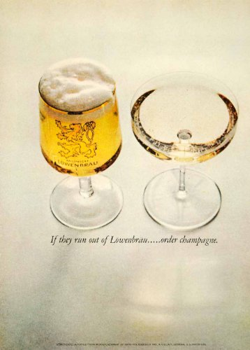 1962-ad-vintage-lowenbrau-beer-german-munich-germany-brewery-glass-champagne-original-print-ad