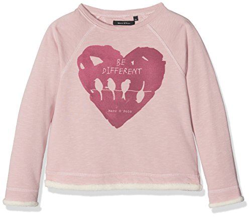 Marc O' Polo Kids Sweatshirt 1/1 Arm, Felpa Bambina, Rosa (Burnished Lilac 2752), 7 anni
