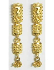 Gold Plated Dangle Earrings - Metal - B00K4F7TQ4