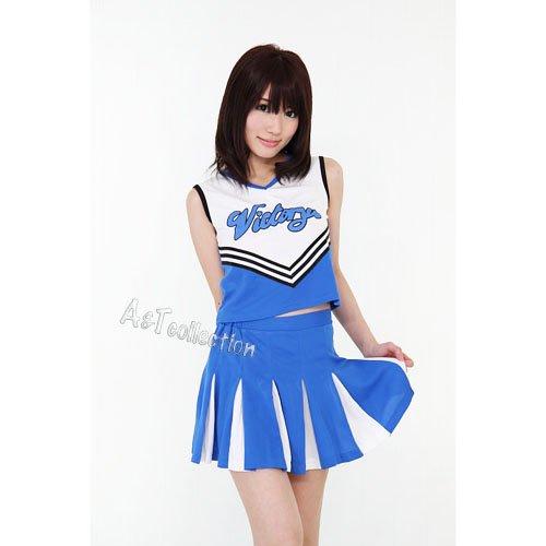 A&Tcollection スカイ☆チア チアガール コスチューム ブルー レディース