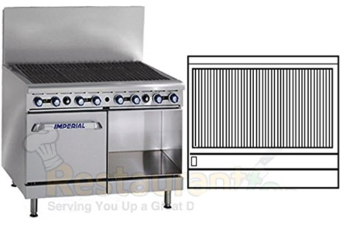 "Imperial Commercial Radiant Char-Broiler 48"" Wide 8 Burner 1 Oven 1 Cabinet Propane Ir-48Br-C-Xb front-610314"
