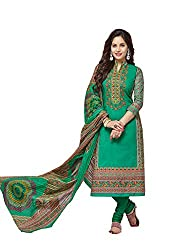 RK Fashion Green Color Karachi Karachi Cotton Unstitched Dress Material (BALARKARACHI2011-Green-Free Size)
