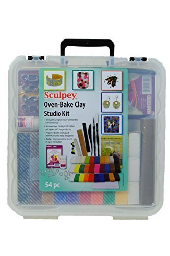 Sculpey Oven bake clay studio kit, 54pc by Sculpey (Sculpey Oven Bake Clay Kit compare prices)
