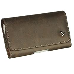 Luxmo Motorola Q/Samsung I617/iPhone 3GS/4/4S Horizontal Pouch - Retail Packaging - Brown