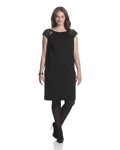 A.B.S by Allen Schwartz Plus Women's Body Con Dress with Cut Out and Studds