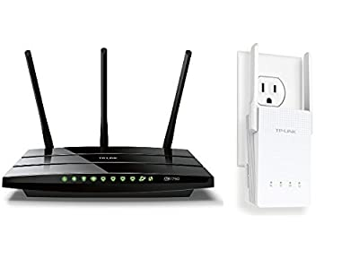 TP-LINK Archer C7 AC1750 Dual Band Wireless AC Gigabit Router and TP-LINK RE210 AC750 Universal Wireless Dual Band Range Extender