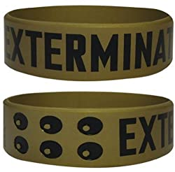 Official Doctor Who Gummy Wristband - Dalek Exterminate (Gold)