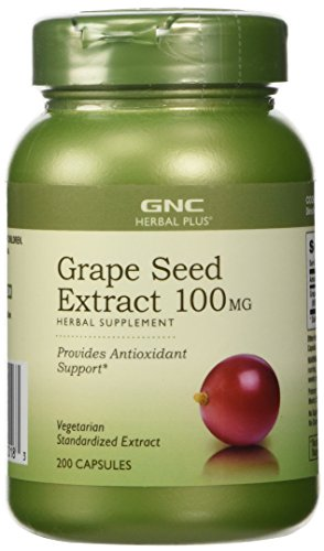 GNC Herbal Plus Grape Seed Extract 100 mg 200 Capsules (Gnc Grape Seed Extract Capsules compare prices)