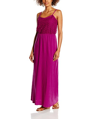 United Colors of Benetton Lace Jersey Maxi-vestido Mujer Rosa Rosa (Fuschia) 38