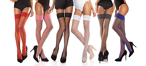 20 % January SALE Fashionlegs Chic and Classic Italian Quality Fishnet Hold Ups