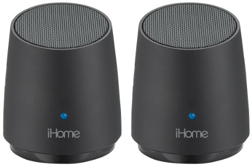 Ihome Ihm89Bc Rechargeable Mini Speakers (Black)