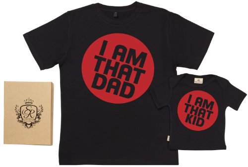 Spoilt Rotten - I Am That Kid & Dad - Dad Baby Gift Box Set - M & 6-12M