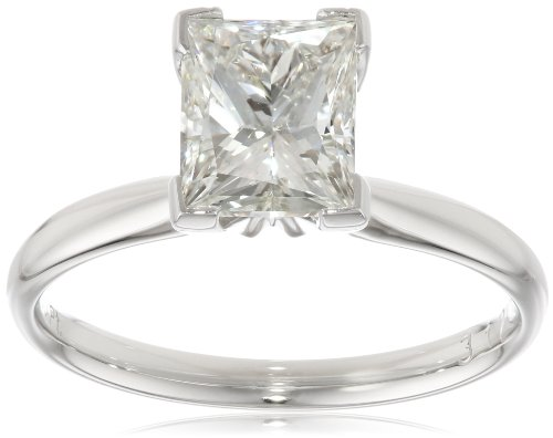IGI Certified Platinum Princess-Cut Diamond Solitaire Engagement Ring (2 cttw, G-H Color, VS2 Clarity), Size 7
