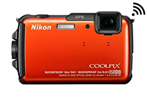 Nikon COOLPIX AW110 Wi-Fi and Waterproof Digital Camera with GPS (Orange)