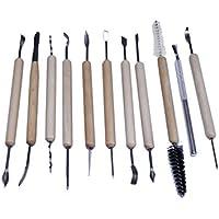 11pc ceramic clay tool set