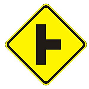 MUTCD W2-2R Right Side Road Sign, 3M Reflective Sheeting, Highest Gauge Aluminum,Laminated, UV Protected, Made in U.S.A