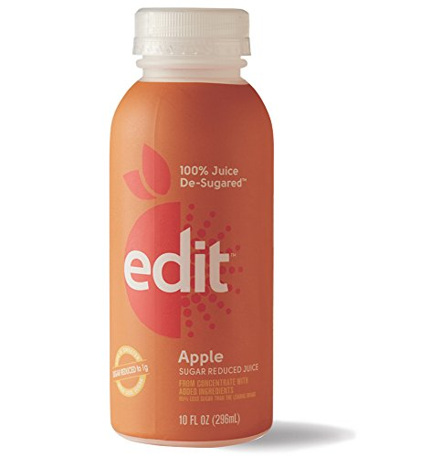 De-Sugared Apple Juice by Edit - 100% Apple Juice De-Sugared (10 FL OZ) - 100% Fruit Juice With Less Sugar - Reduced Sugar Fruit Juice - Low Sugar Fruit Juice (6-Count) (Pantry Grape Juice compare prices)
