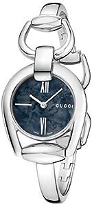 Gucci Women's YA139503 Gucci Horsebit Collection Analog Display Swiss Quartz Silver Watch