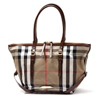 (バーバリー) BURBERRY トートバッグ BRIDLE HOUSE CHECK SMALL SALISBURY TOTE DARK TAN 3882055 darktan [並行輸入品]