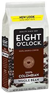 Eight Oclock Coffee 100 Colombian Whole Bean 33-ounce Bag by Eight O'Clock Coffee