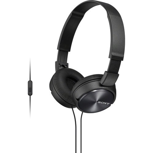 Sony Premium Lightweight Extra Bass Stereo Headphones With In-Line Microphone And Remote For Android Smartphone (Black)