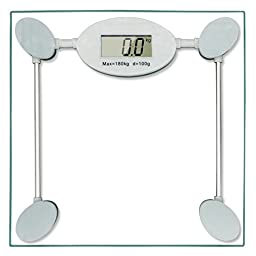 Rusee High Accuracy Precision Digital Body Weight Bathroom Fat Glass Scale, \